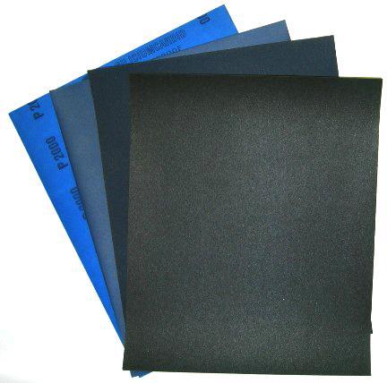 Våtslipepapir i ark